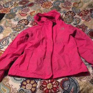 The North Face hot pink windbreaker!